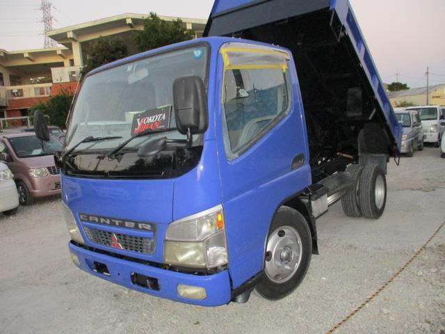 沖縄県の中古車ならキャンター 2トン積載高床ダンプ