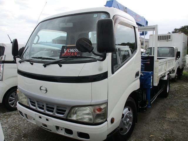 沖縄県の中古車ならデュトロ 2トン積載車3段クレーン付き