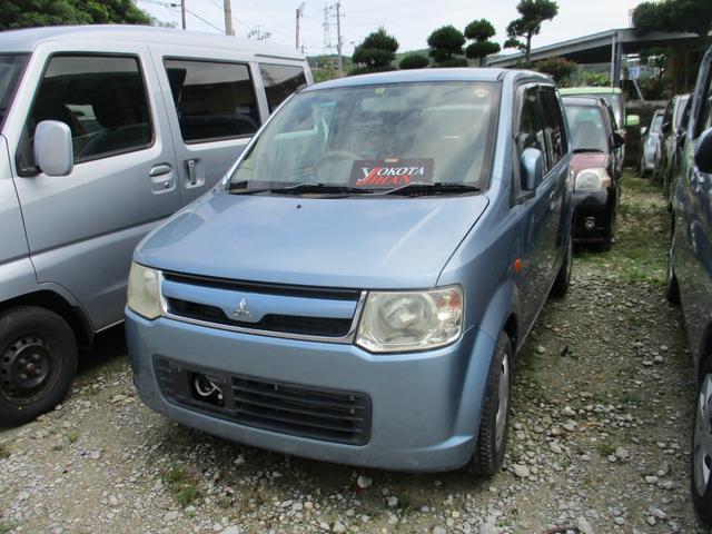 沖縄の中古車 三菱 eKワゴン 車両価格 19万円 リ済別 2008(平成20)年 7.5万km ブルー