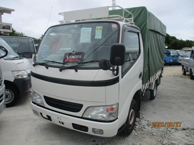 沖縄県の中古車ならトヨエース ジャストロー 1.2トン積載低床ホロ付き