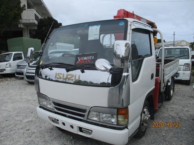 沖縄県の中古車ならエルフトラック  3段クレーン2t積