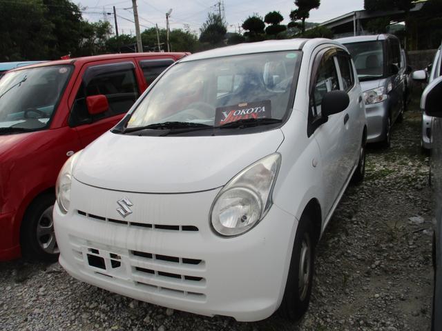 沖縄の中古車 スズキ アルト 車両価格 24万円 リ済別 2011(平成23)年 7.5万km ホワイト
