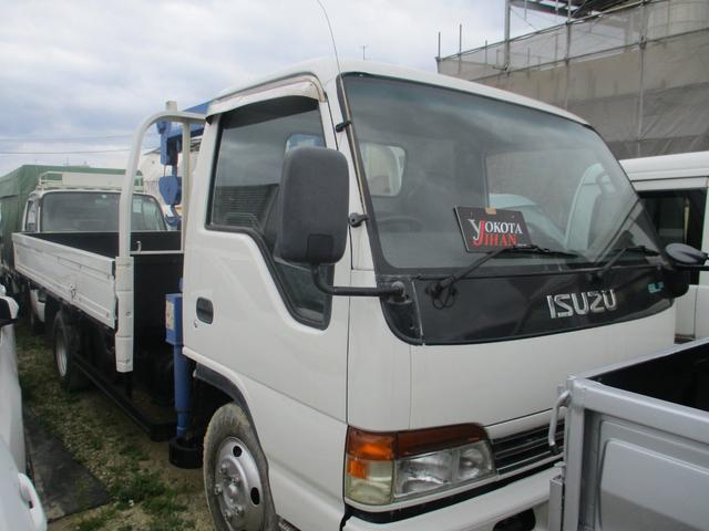 沖縄県中頭郡西原町の中古車ならエルフトラック  3段クレーン800kg積