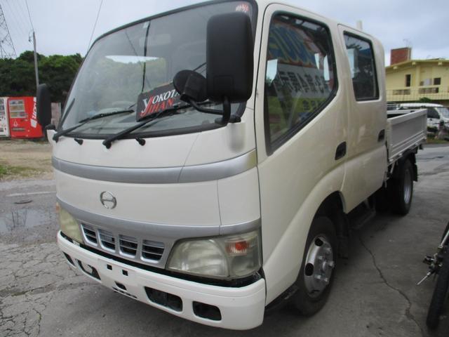 沖縄県の中古車ならデュトロ Wキャブ全低床 2トン積載