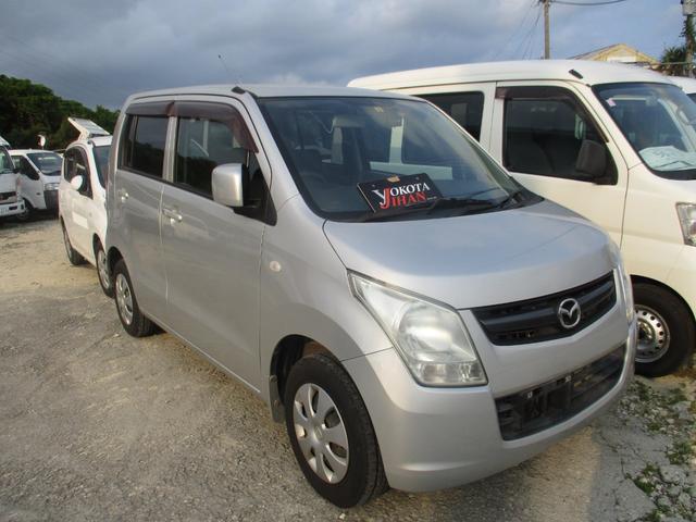 沖縄の中古車 マツダ AZワゴン 車両価格 24万円 リ済別 2010(平成22)年 13.9万km シルバー