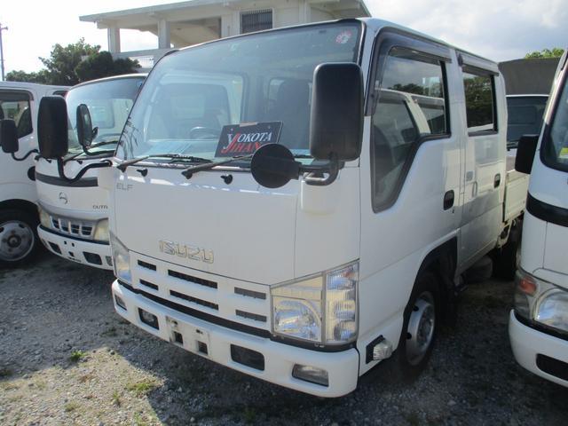 沖縄県の中古車ならエルフトラック Wキャブフラットロー 1.5トン積載