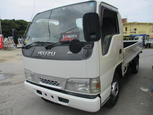 沖縄県の中古車ならエルフトラック フルフラットロー 2トン積載