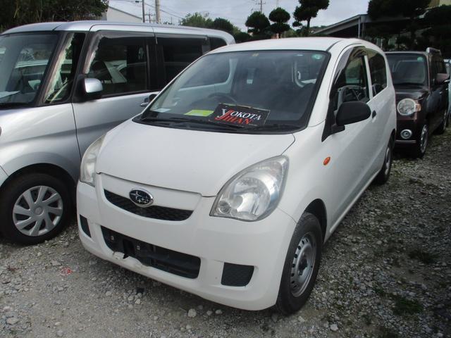 沖縄の中古車 スバル プレオ 車両価格 24万円 リ済別 2013(平成25)年 7.3万km ホワイト