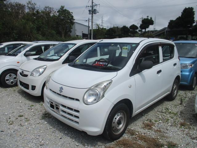 沖縄の中古車 スズキ アルト 車両価格 24万円 リ済別 2011(平成23)年 5.6万km ホワイト