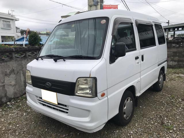 沖縄の中古車 スバル サンバーバン 車両価格 15万円 リ済込 平成18年 19.6万km ホワイト