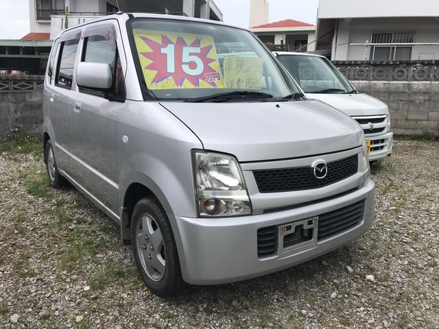 沖縄の中古車 マツダ AZワゴン 車両価格 10万円 リ済込 2004(平成16)年 11.8万km シルバー