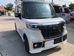 沖縄の中古車 スズキ スペーシアカスタム 車両価格 169万円 リ済込 平成30年 4K ツートン