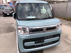 沖縄の中古車 スズキ スペーシア 車両価格 145万円 リ済込 平成30年 7K 水色
