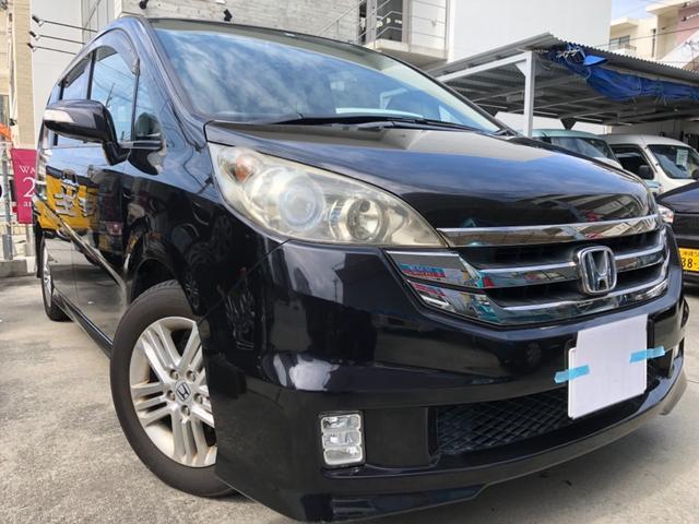 沖縄の中古車 ホンダ ステップワゴン 車両価格 39万円 リ済込 2009(平成21)年 13.2万km ブラックM