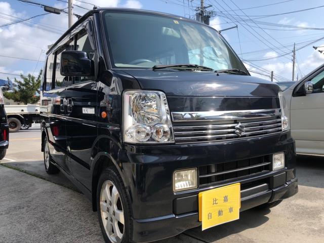 沖縄の中古車 スズキ エブリイワゴン 車両価格 55万円 リ済込 2006(平成18)年 9.8万km ブラックM