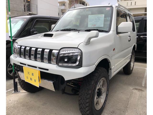 沖縄の中古車 スズキ ジムニー 車両価格 115万円 リ済込 2002(平成14)年 16.8万km パールホワイト