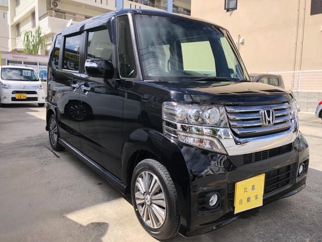 沖縄の中古車 ホンダ N-BOXカスタム 車両価格 98万円 リ済込 2013(平成25)年 12.2万km ブラックM