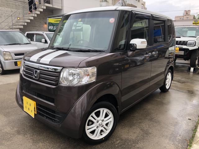 沖縄の中古車 ホンダ N-BOX 車両価格 108万円 リ済込 2014(平成26)年 11.4万km ツートン