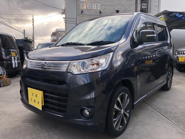 沖縄の中古車 スズキ ワゴンRスティングレー 車両価格 58万円 リ済込 2013(平成25)年 12.8万km グレーM