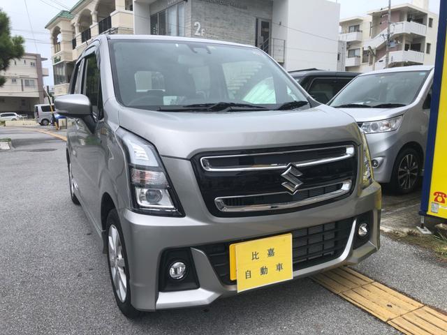 沖縄の中古車 スズキ ワゴンRスティングレー 車両価格 128万円 リ済込 2019(令和1)年 0.4万km シルバーM