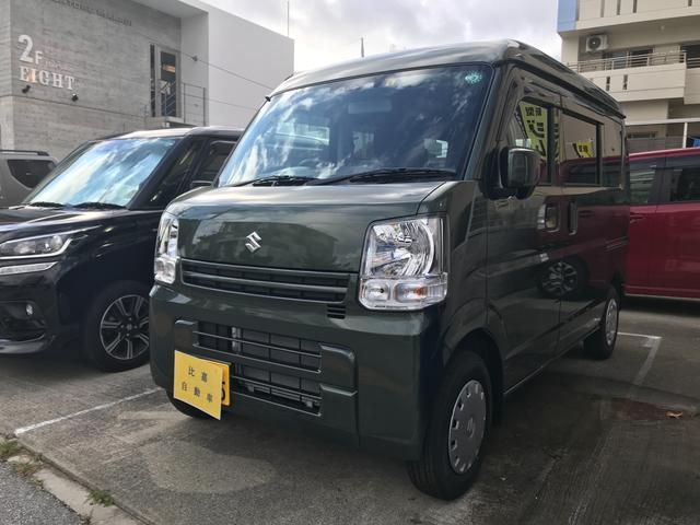 沖縄の中古車 スズキ エブリイ 車両価格 109万円 リ済込 2020(令和2)年 100km グリーンM