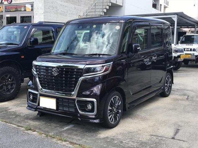 沖縄の中古車 スズキ スペーシアカスタム 車両価格 183万円 リ済込 2021(令和3)年 5km ダークパープルM