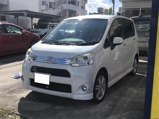 沖縄の中古車 ダイハツ ムーヴ 車両価格 45万円 リ済込 2011(平成23)年 14.1万km パールホワイト