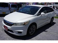 沖縄の中古車 ホンダ ストリーム 車両価格 9万円 リ済込 平成18年 18.0万K ホワイト
