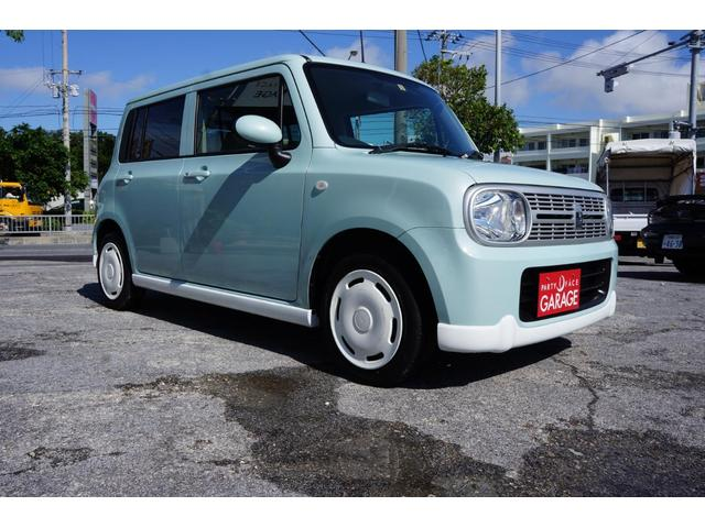 沖縄の中古車 スズキ アルトラパン 車両価格 52万円 リ済別 平成23年 6.8万km Lグリーン