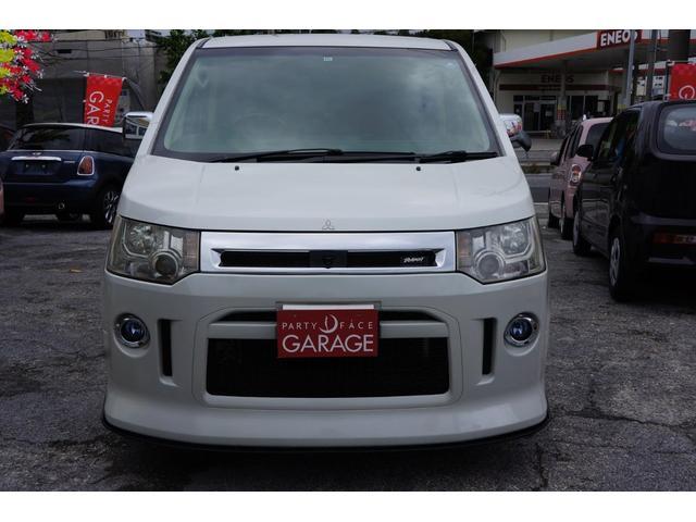 沖縄県の中古車ならデリカD:5 フルエアロ 人気のパールホワイト