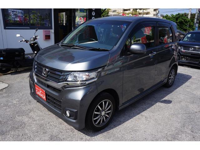沖縄の中古車 ホンダ N-WGNカスタム 車両価格 65万円 リ済別 2014(平成26)年 7.8万km ガンM