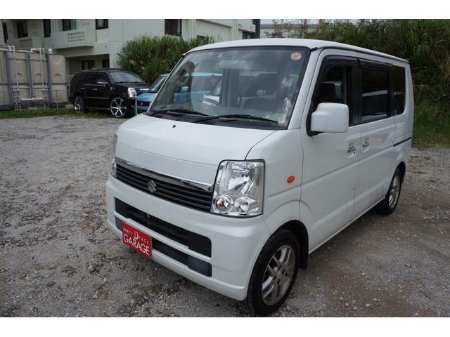 沖縄県の中古車ならエブリイワゴン JPターボ 人気のパールホワイト