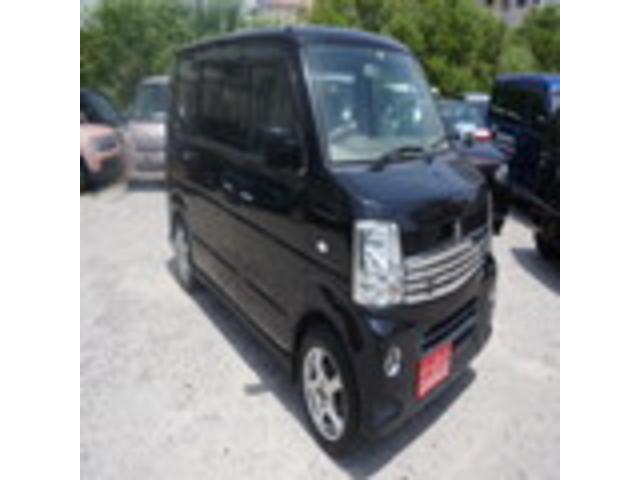 沖縄の中古車 スズキ エブリイワゴン 車両価格 69万円 リ済込 2012(平成24)年 7.7万km ブラック