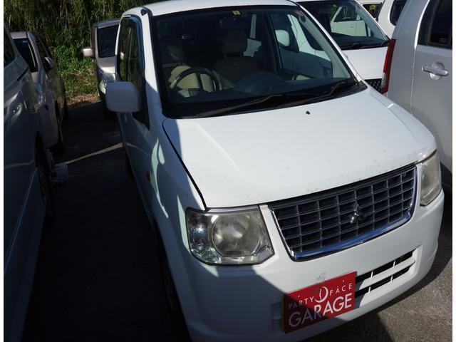 沖縄の中古車 三菱 eKワゴン 車両価格 14万円 リ済込 2011(平成23)年 12.0万km ホワイト
