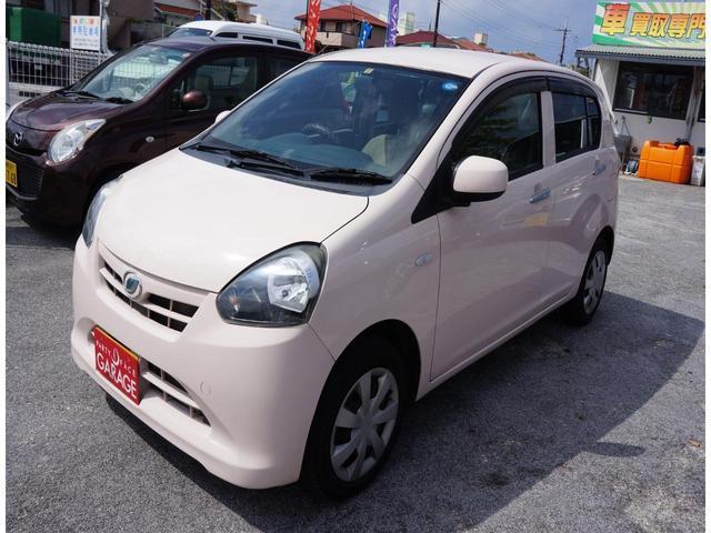 沖縄県の中古車ならミライース X 走行2万キロ台 人気のピンク