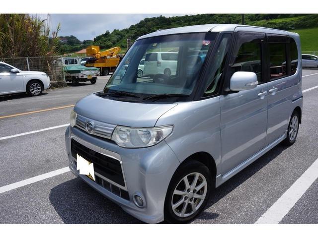 沖縄県の中古車ならタント カスタムX 社外Bluetooth対応オーディオ 片側パワースライドドア エコアイドルストップ搭載