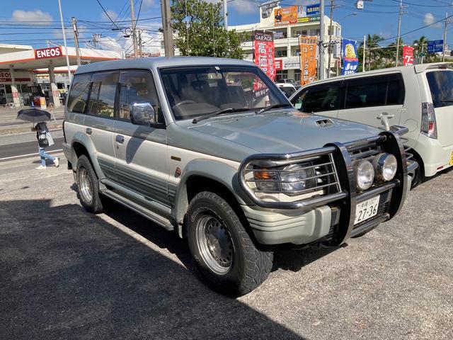 沖縄県の中古車ならパジェロ ワイド エクシード 4M40 V46WG サンルーフ ETC車載器 社外アルミホイール