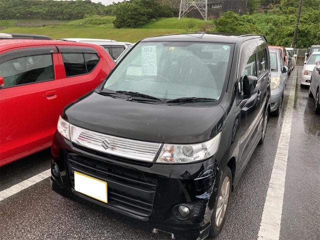 沖縄の中古車 スズキ ワゴンRスティングレー 車両価格 19万円 リ済別 2010(平成22)年 11.9万km Dブラック