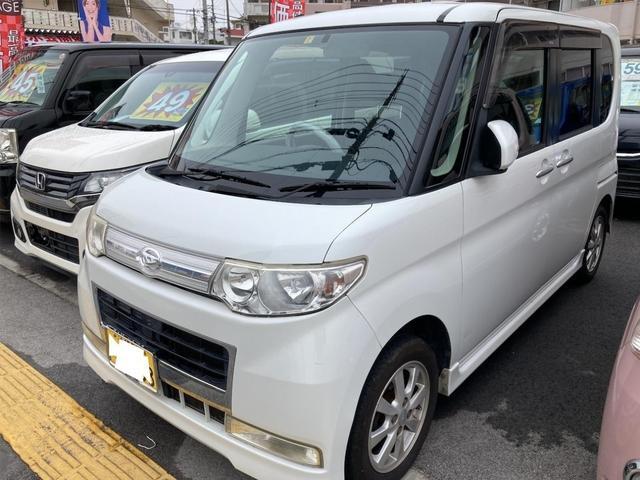 沖縄の中古車 ダイハツ タント 車両価格 15万円 リ済別 2008(平成20)年 13.1万km パールホワイトIII
