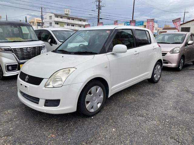 沖縄の中古車 スズキ スイフト 車両価格 24万円 リ済別 2008(平成20)年 9.3万km パールホワイト