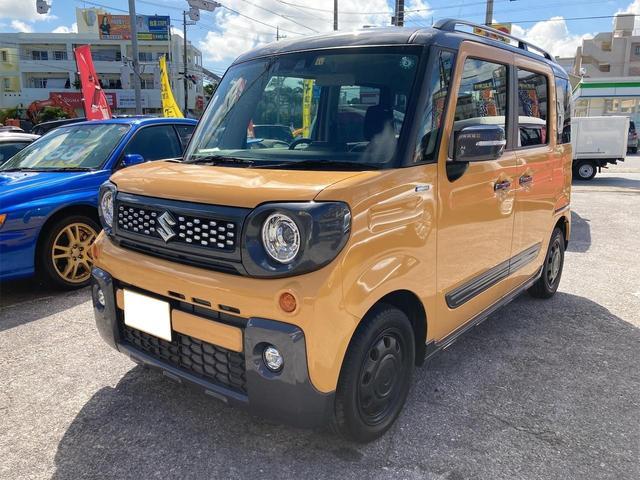 沖縄県那覇市の中古車ならスペーシアギア ハイブリッドXZ 自社デモカーアップ 両側パワースライドドア コーナーセンサー シートヒーター
