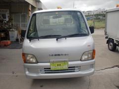 沖縄の中古車 スバル サンバートラック 車両価格 31万円 リ済込 平成13年 10.0万K シルバーM