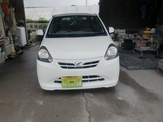 沖縄の中古車 ダイハツ ミライース 車両価格 25万円 リ済込 平成24年 11.2万km ホワイト
