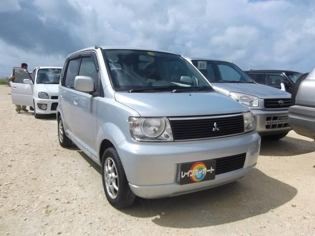 沖縄の中古車 三菱 eKワゴン 車両価格 15万円 リ済込 2002(平成14)年 7.6万km シルバー