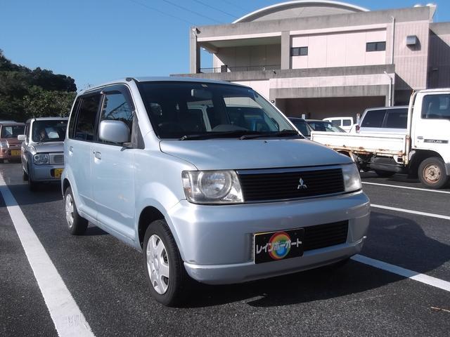沖縄の中古車 三菱 eKワゴン 車両価格 12万円 リ済込 2001(平成13)年 12.9万km ブルーシルバー