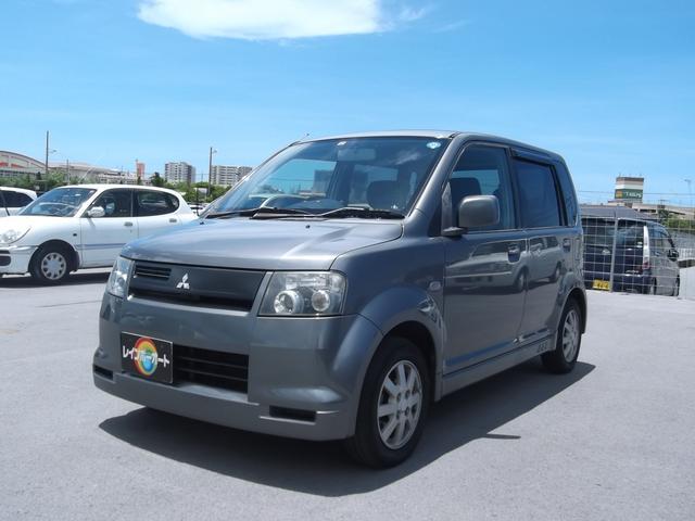 沖縄の中古車 三菱 eKスポーツ 車両価格 18万円 リ済込 平成15年 10.5万km グレー