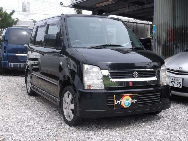 沖縄の中古車 スズキ ワゴンR 車両価格 14.8万円 リ済込 平成16年 9.8万km ブラック