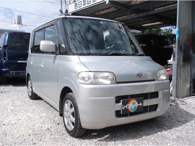 沖縄の中古車 ダイハツ タント 車両価格 14.8万円 リ済込 2005(平成17)年 10.8万km ライトゴールド
