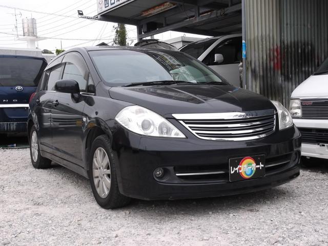 沖縄の中古車 日産 ティーダ 車両価格 19.8万円 リ済別 2006(平成18)年 9.0万km ブラック