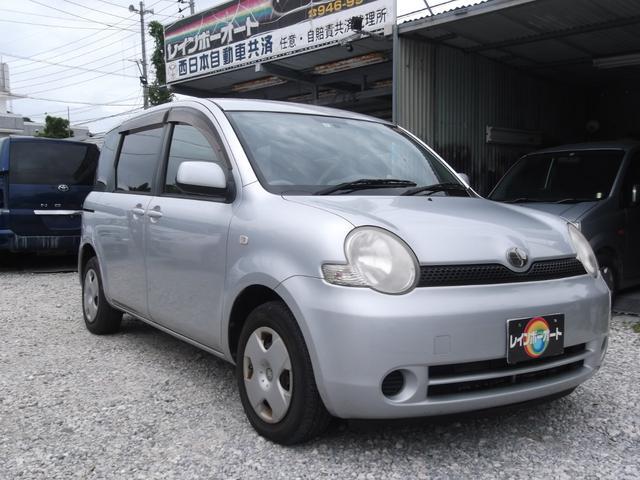 沖縄の中古車 トヨタ シエンタ 車両価格 11.8万円 リ済別 2004(平成16)年 8.0万km シルバーM
